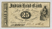 view 25 cents, Indian Head Bank, White & Hill, Nashua, N.H. digital asset number 1