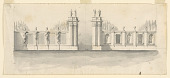 view Design for a gateway with lodges, early design for Villa Albani digital asset number 1