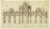 view Design for the Elevation of a Stone Screen and Loggia digital asset number 1