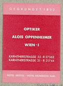 view Optiker Alois Oppenheimer [Alois Oppenheimer, Optician] digital asset number 1