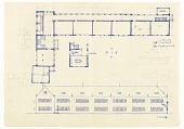 view Volksschule Stockerau (Floor Plan and Rear Façade Elevation) digital asset number 1