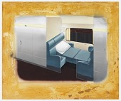view Design for Streamline Sleeper Car with Two Seat Compartment digital asset number 1