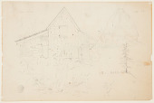 view Sketch of a Barn and Haystack digital asset number 1