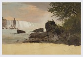 view View of the Canadian Falls and Goat Island digital asset number 1