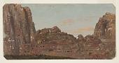 view Petra, Khirbet en-Nasara rock chambers digital asset number 1