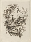 """view Plate 3, """"Suite de douze Pêcheurs et Chasseurs"""" digital asset number 1"""