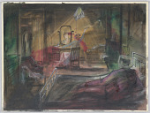 "view Sketch of Bedroom Scene for ""Adding Machine"" digital asset number 1"