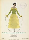 """view Vinaigre, robe de Paul Poiret (""""Vinegar,"""" dress by Paul Poiret), Gazette du bon ton : arts, modes & frivolités (Gazette of fashion: arts, modes & frivolities) 6e année, No. 10, plate 53 digital asset number 1"""