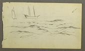 view Two sailboats, waves digital asset number 1