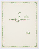 view Design for Hotel Jerome Grill Luncheon and Dinner Menu, Aspen, CO digital asset number 1