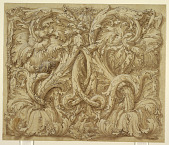 view Design for Acanthus Rinceaux with Animals and Birds digital asset number 1