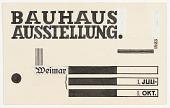 view Bauhaus Ausstellung Weimar (Bauhaus Exhibition Weimar) digital asset number 1