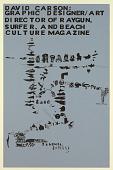 view Cal Arts Program in Graphic Design Announcement: ...David Carson..., April 15, 1993 digital asset number 1