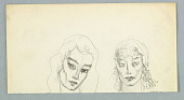 view Two Female Faces, Frontal Views digital asset number 1