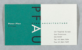 view Business Card for Pfau Architecture, San Francisco digital asset number 1
