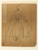 view Sketch of Woman in Period Costume digital asset number 1