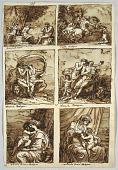 view Sketchbook: Folio 73; Six Paintings of Bolognese School; Verso: Anatomical Drawings digital asset number 1