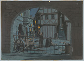 """view Design for """"The Black Death"""" Diorama for """"The Triumph of Man"""" Exhibit, The Travelers Pavilion, New York World's Fair 1964–65 digital asset number 1"""