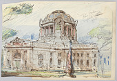 view Album of original sketches and photographs of the architect's work digital asset number 1