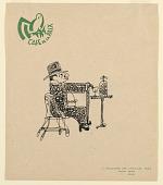 view Café de la Paix: Man with Walking Stick digital asset number 1