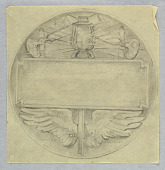 view Final Sketch for Reverse of New York Central Railroad Employees Medal digital asset number 1