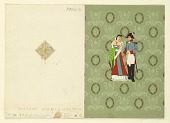 view Front and Back of Large Figure, Holland America Line, First Class digital asset number 1