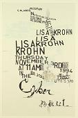 view Cal Arts Program in Graphic Design Announcement: ...Lisa Krohn, November 3, 1994 digital asset number 1