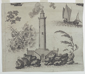 view Fragment of a cartoon for cotton printing: Neptune or L'Empire des Mers digital asset number 1