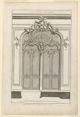 "view Plate 1 from a Set of 6, ""Decoration d'une porte double à placard"" digital asset number 1"