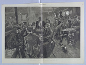 view The Smoking-Room of an Atlantic Steamer, Illustration for Harper's Weekly (XXX, August 7, 1886, p. 504-505) digital asset number 1