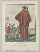 """view Gazette du Bon Ton (Journal of Good Taste), Vol. 1, No. 12, Le """"Meet"""" (The Encounter), Plate 7 digital asset number 1"""