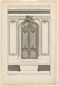 "view Plate 5, ""Decoration d'une Portal double à placards dans son chambrante fermé..."" digital asset number 1"