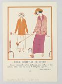 view Gazette du Bon Ton (Journal of Good Taste), Deux Costumes de Sport (Two Sporting Ensembles) digital asset number 1