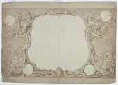 "view Design for an Ornamental Border Used for the Surround to the General Chart in John Pine's ""Tapestry Hangings in the House of Lords"" digital asset number 1"