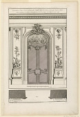 "view Plate 6, ""Decoration d'une Portal double à placards, traittée dans la même gout..."" digital asset number 1"