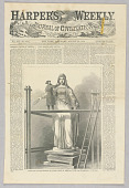 view Rogers, the Sculptor, Modeling his Colossal Statue of America, at Rome, Illustration for Harper's Weekly (XII, August 22, 1868) digital asset number 1