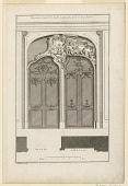"view Plate 4, ""Decoration d'une Portal double à placards varie de deux façons"" digital asset number 1"