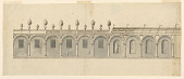 view Elevation of a Colonnade in a Garden digital asset number 1