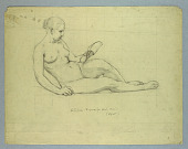 """view Nude Study of Literature in Headband for """"American Illustration of Today"""" digital asset number 1"""