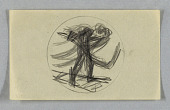 view Sketch for Obverse of New York Central Railroad Employees Medal digital asset number 1