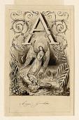 view Design for the letter A of a primer: Ange Gardien (Guardian Angel) digital asset number 1