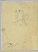 view Sketch of a Woman's Head and Hand digital asset number 1