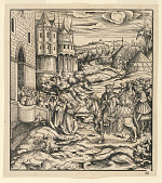 """view Citizens of a Town Swearing Loyalty to the White King, illustration no. 95 from """"The History of Emperor Maximilian I and his Ancestors"""" digital asset number 1"""