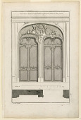"view Plate 3, ""Decoration d'une Porte double à placards..."" digital asset number 1"