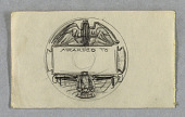 view Sketch for Reverse of New York Central Railroad Employees Medal digital asset number 1