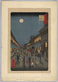 view Night view at Surawaka Town from 100 Famous Views of Edo digital asset number 1