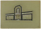 view Design for Store Facade of Mappin &Weeb in the Art Deco Style digital asset number 1