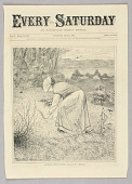 view Gathering Spring Flowers, Illustration for Every Saturday (II, May 13, 1871, cover) digital asset number 1