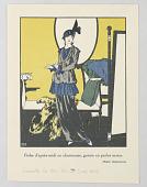 view Robe d'après-midi en charmeuse, garnie en perles mates, from Gazette du Bon Ton digital asset number 1