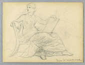 view Study of Seated Woman for National Academy of Design Tympanum digital asset number 1